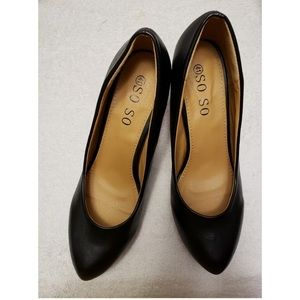 SO SO black leather pumps, 41 (11)